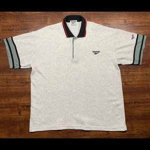Vintage 80s REEBOK ACCESSORIES Polo Shirt - Grey